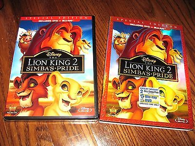The Lion King II:Simba's Pride Disney(DVD+Blu-ray,2012,2-Disc Slipcover Rare OOP