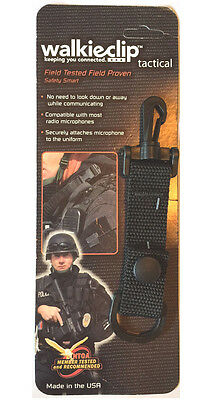 Tactical Mic Clip Speaker Mic Holder Shirt Clip Attachment Police/Fire/EMT Radio