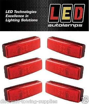6 X Autolamps 1490RM Trailer & Commercial Vehicle Rear End Marker LED 12/24V