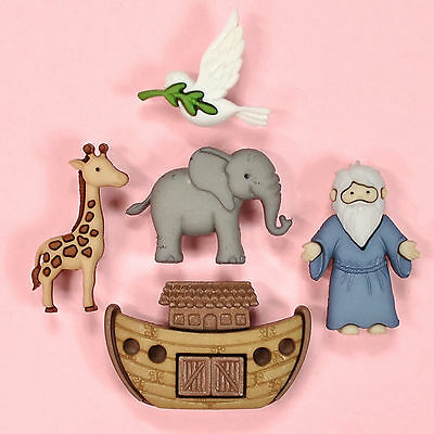 DRESS IT UP Buttons Noah's Ark 8975 - Elephant Giraffe Dove