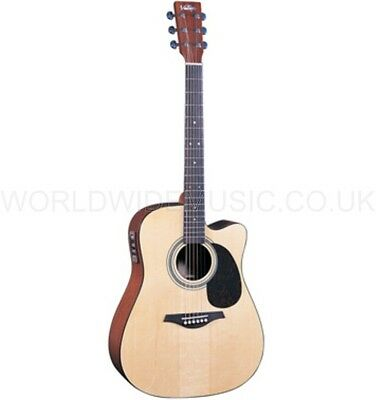 Vintage VEC800N Electro Acoustic Guitar Natural with - Fishman Sonicore Pickup