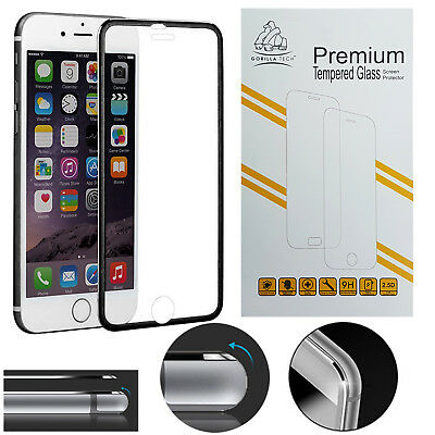 Gorilla Tech Oleophobic Coated Tempered Glass Full Coverage Protector for iPhone