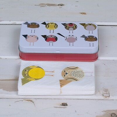 Soul Birds Tissue Tin with 2 packs of matching tissues Hankerchief New