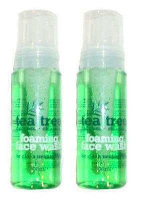 ** 2 X Tea Tree Foaming Face Wash 200Ml Each Daily Use Clean Healthy Skin New **
