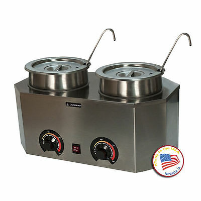 Paragon Double Nacho Cheese Warmer  Dispenser  With Two 1 Oz  Ladles  2029A