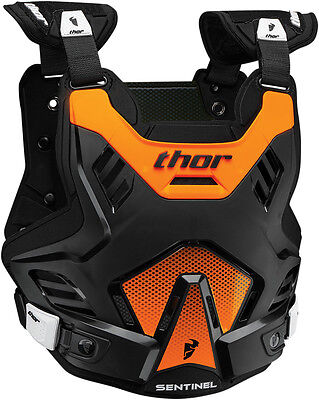 Thor Youth Sentinel Gp Chest Protector Body Armour Black Orange Junior Motocross