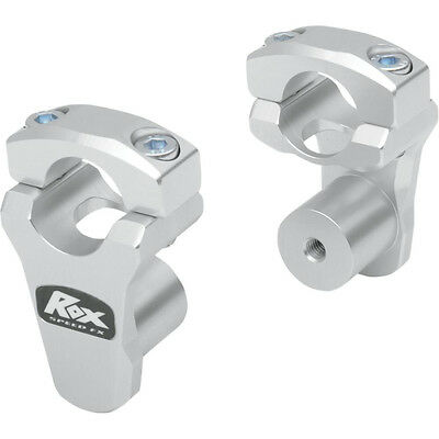 "Rox Speed FX 1.75"" Pivoting Risers for 1 1/8""  Handlebars - 3R-P2PPL  - Silver"