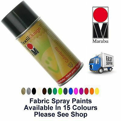 Black Fabric Spray Paint Marabu Textile Design 150ml Textil Clothes (073)