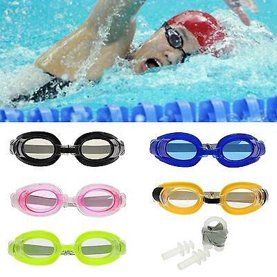 Adjustable Cool Diving Swimming Glasses Swim Goggles Set With Earplug Nose Clip