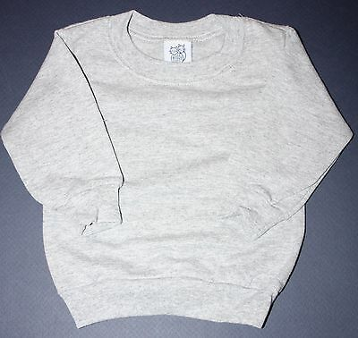 New without Tags Kiddy Kats Kids Boys or Girls Gray Crew neck Sweatshirt 6 Mo 12