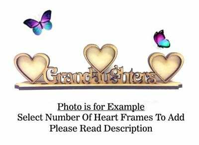 GRANDAUGHTERS Build Your Own Wooden MDF Photo Frame, Mothers Day PL54 - OPTIONS