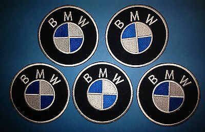 5 Lot BMW Auto Car Club Jacket Hat Uniform Backpack Iron On Patches Crests