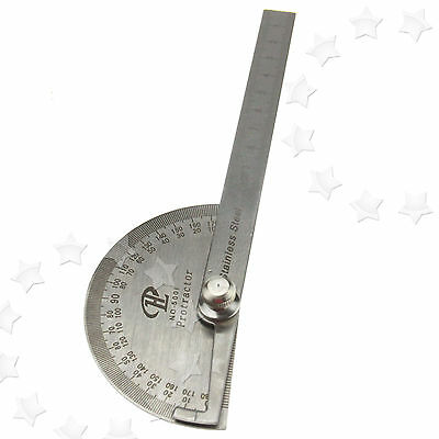 Angle Ruler 180° Protractor Round Angle Finder Craftsman Ruler Machinist Tool