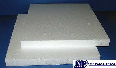 5 Expanded Polystyrene Sheets Ld Grade 600 X 400 X 25Mm
