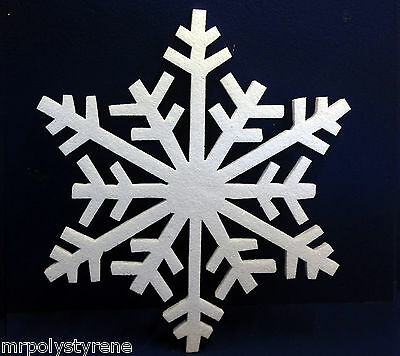 10 Polystyrene Snowflake In Hd 1 Design 360Mm Height 10Mm Thick