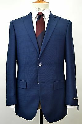 Men's Navy Blue Glen Plaid 2 Button Slim-fit Suit SIZE 38R NEW