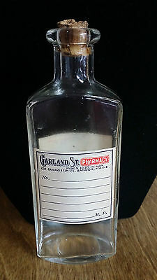 VINTAGE Garland St. Pharmacy Medicine Bottle Bangor Maine