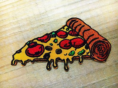 """""""NEW"""" Pizza slice badge Iron On Patch patches embroidered iron on backpack biker"""