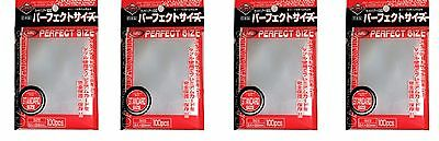 Lot of 400 (4x100) KMC Perfect Size / Fit sleeves Magic the Gathering  Pokemon