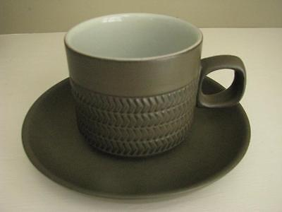 Denby Camelot Dark Green Coffee cup and saucer lot 4 Cups and Saucers