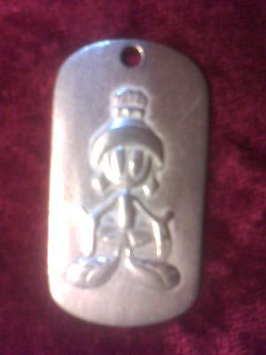 "Marvin the Martian Pendant 1.75"" Warner Brothers, 1993, necklace, jewelry, metal"