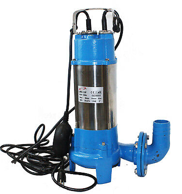 2HP Submersible Sewage Ejector Drain Water Pump Plumbing 136GPM w/ UL 30' Cable
