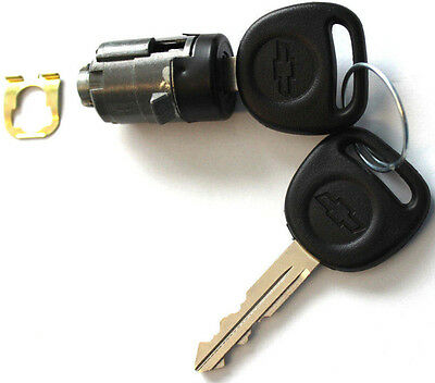 NEW CHEVY OEM Single BLACK Door Lock Cylinder W/2 OEM LOGO KEYS-706592 + 598007