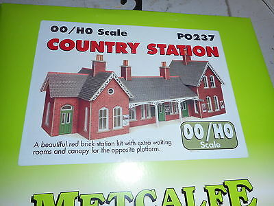 Metcalfe Oo Scale Cardboard Building Po 237 Country Railway Station
