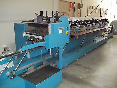 Heidelberg SHERIDAN 6 POCKET STITCHER W/ COVER FEEDER, 3 KNIFE TRIM LIKE MULLER