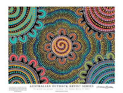 "Aboriginal Art Print with ""Journey"" Design 34x45cm"
