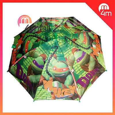 Boys Kids Umbrella Parasol Raincoat Rainproof TMNT Teenage Mutant Ninja Turtles