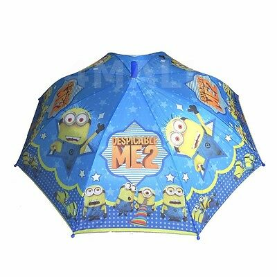 Boys Kids Umbrella Parasol Raincoat Rainproof Minions Despicable Me Sun-shade