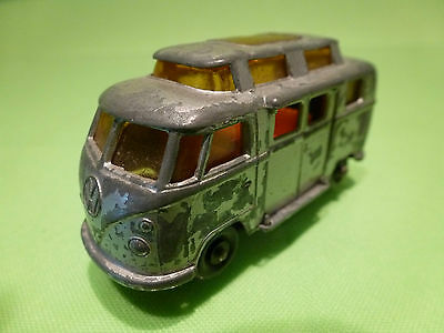 Lesney 34 Vw Volkswagen T1 Camper Rv  High Roof - Grey 1:65? - Good Condition