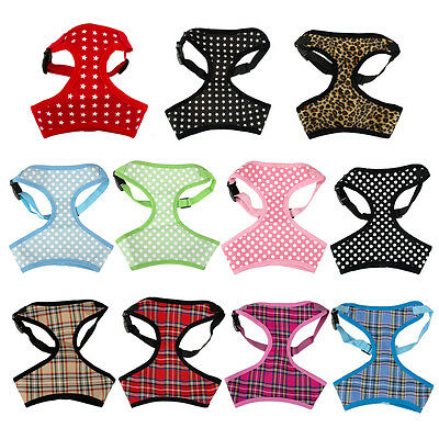 Soft Breathable Mesh Padded Puppy Dog Harness Vest for Chihuahua Poodle Teddy