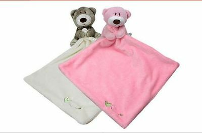 New Plush Baby Toddler Blanket Soft Coral Fleece Toys Sleep Appease Bear Towel