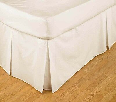 Ivory Platform Valance Sheet Double - Box Pleated in Polycotton by Belledorm