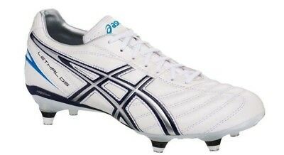 asics Men's Lethal DS 3 ST Rugby Boot (Pearl White - Navy) RRP £80