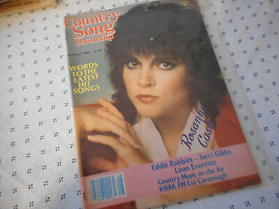 Rosanne Cash Covers Country Song Roundup Magazine August 1983 Eddie Rabbitt
