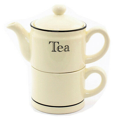 Teapot For One Tea Serving Kitchen China With Lid Coffee Home Pot Gift Set New