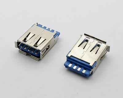 2pcs USB 3.0 Female 9 Pin Wire Type Socket Connector HW-UAF-30-03