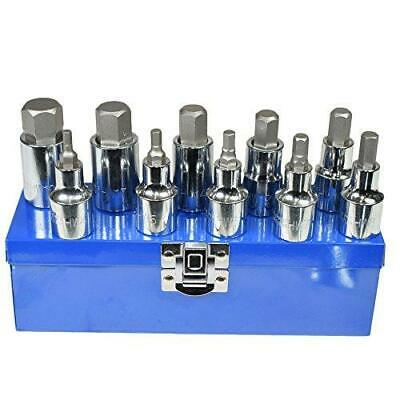 "Bergen 10 piece 1/2 HEX ALLEN BIT SOCKET SET 1/2"" Drive 10pc B1135"