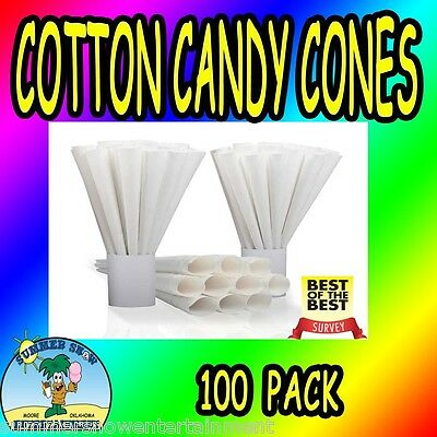 Cotton Candy Cones Plain Gold Medal 100 pcs concession fair carnival supply