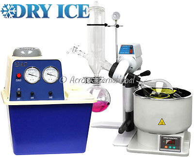 Ai SolventVap 2L Rotary Evaporator w/ Cold Trap Condenser, Pump and Manual Lift
