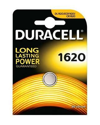 Duracell 1620 3V Lithium Coin Cell Batteries CR1620/DL1620 Battery - New