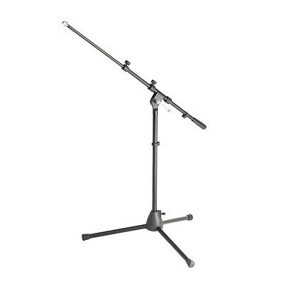 Adam Hall Stands S9 B Small Black Tripod Microphone Stand with Boom Arm