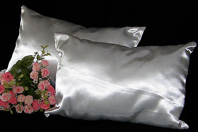 Church Wedding Kneeling Pillows Pillow Set Shower Gift White Satin Bride Groom