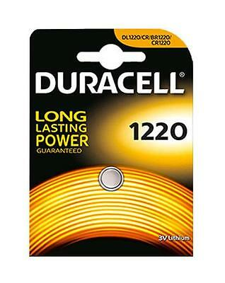 4x Duracell 1220 3V Lithium Coin Cell Batteries CR1220/DL1220 Battery - New