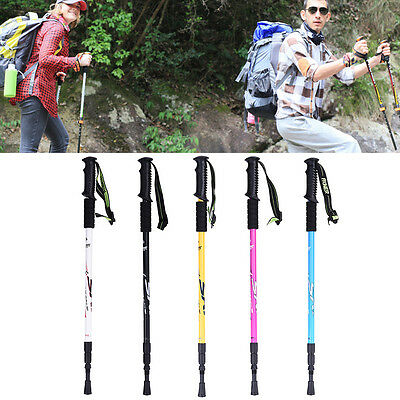 Telescopic Anti-Shock 3-Section Lightweight Trekking Walking Hiking Stick Poles