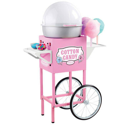 Nostalgia Electrics CCM600 120-Volt 700 Watt Pink Large Cotton Candy Maker Cart