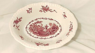 """Mason's Watteau PINK 9"""" Oval Vegetable Bowl in Excellent Condition"""